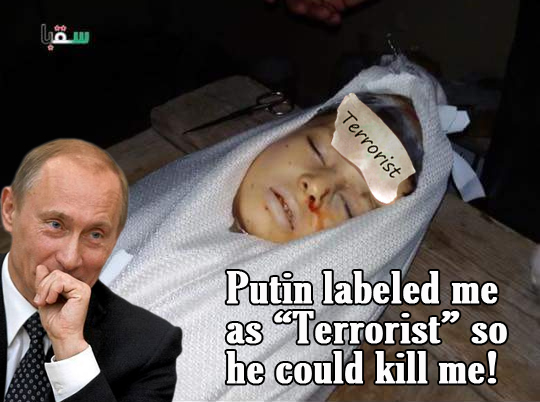 Russian Airtstrikes kill syrian children, women and men
