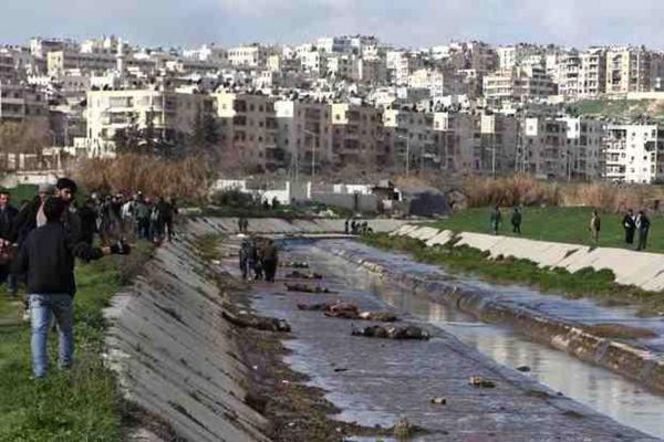 Syrian regime mass murdering civilians