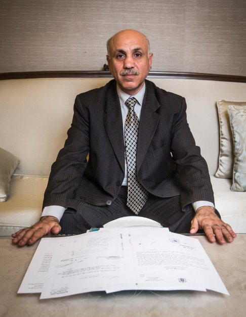 Dr. Abed Tawab Shahrour (50) used to be the chief pathologist at the University Hospital of Aleppo, he autopsyed more than 3,000 war victims Credit: Christian Spreitz / Bild am Sonntag