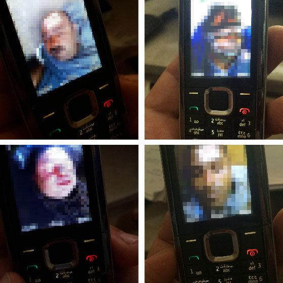 The pathologist Dr. Shahrour has taken pictures of the victims with his cell phone. He risked his live in order to show the world what has happened to his people