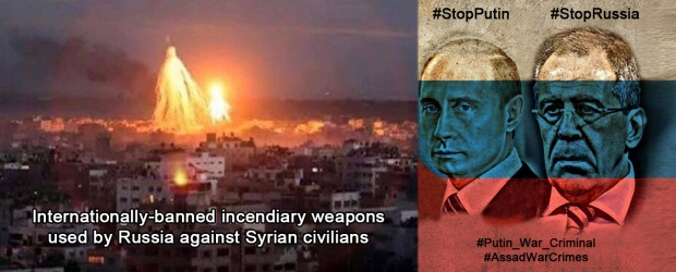 Phosphorus bombs were used by Russia Putin to kill syrian civilians