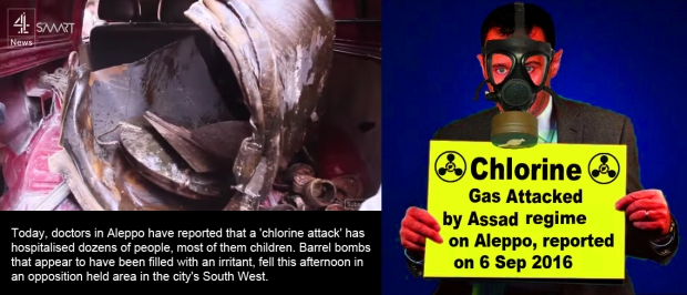 Assad regime use chlorine gas attack on Aleppo people