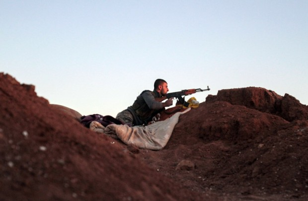 A Kurdish YPG fighter in northeastern Syria. EPA/Mauricio Morales