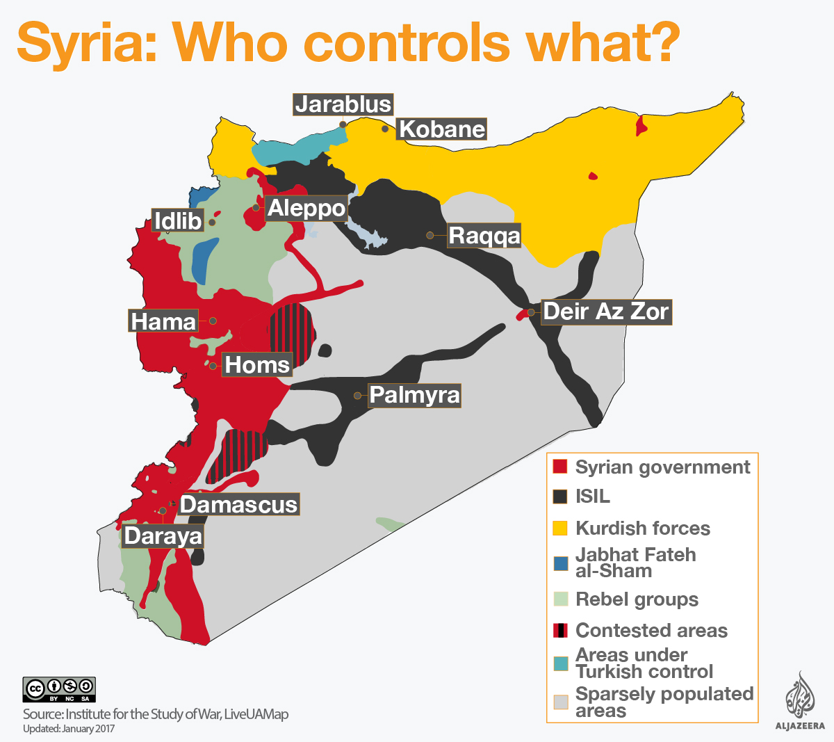 Syrian Civil War Map | Collateral Damage